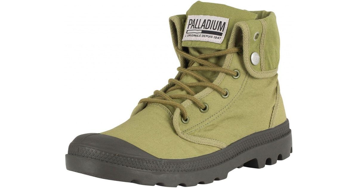 443d8084906 Palladium Green Olive/beluga Baggy Army Training Camp Boots for men