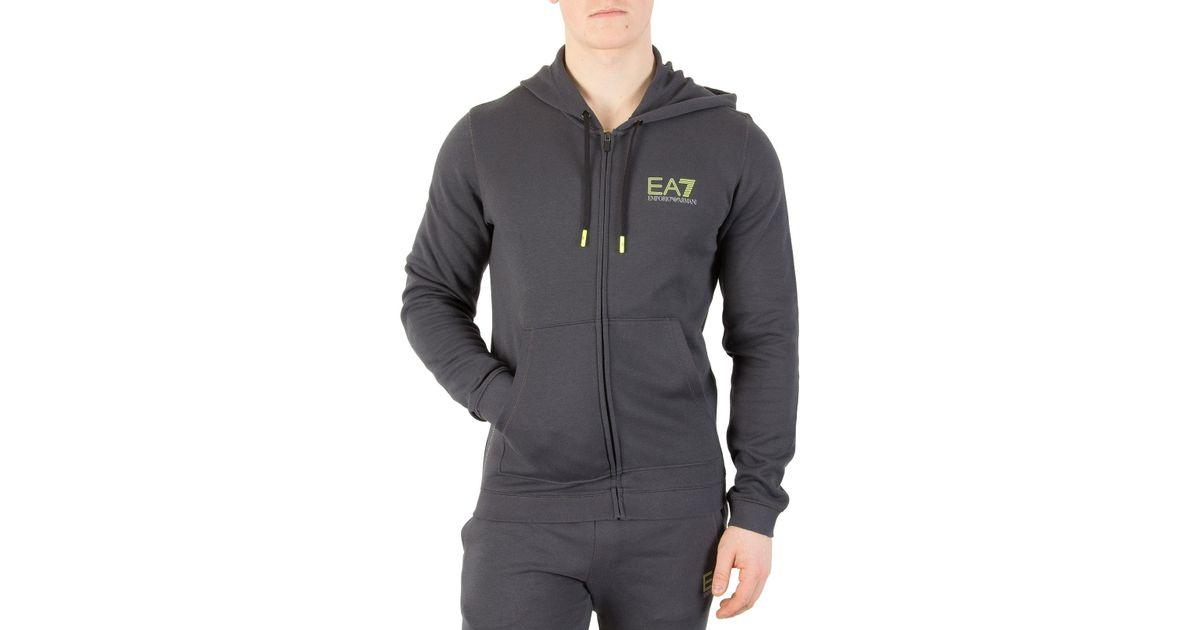 71f5a58a9f EA7 Gray Dark Grey Natural Ventus Zip Hoodie for men
