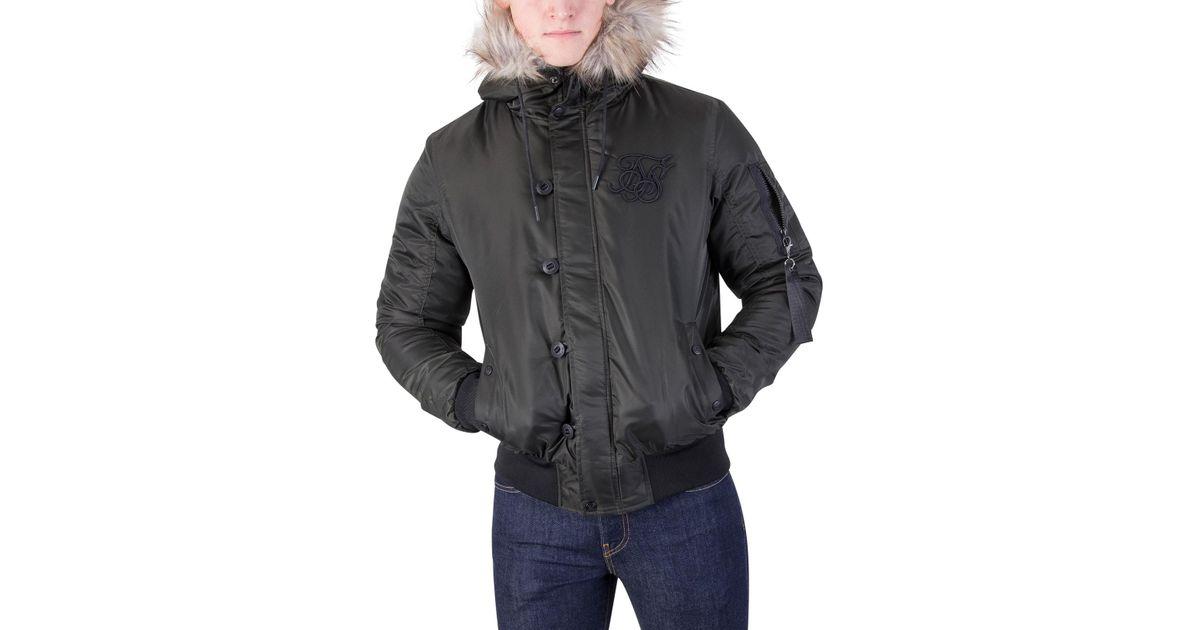 e2389345c Sik Silk Multicolor Khaki Everest Bomber Jacket for men