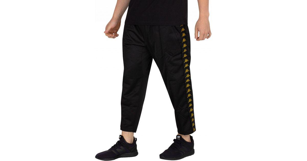 b54bad4ad8 Kappa Black/gold Adern Cropped Joggers for men