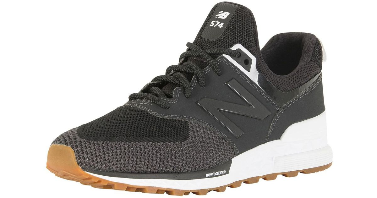 promo code 57880 954ca New Balance Black Magnet 574 Trainers for men