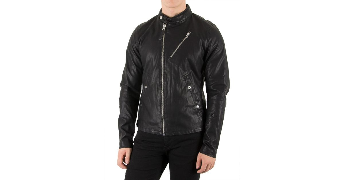 factory price look for closer at G-Star RAW Synthetic Black Empral Dc 3d Biker Jacket for Men - Lyst