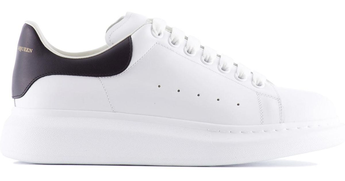 Wide Sole Leather Sneakers