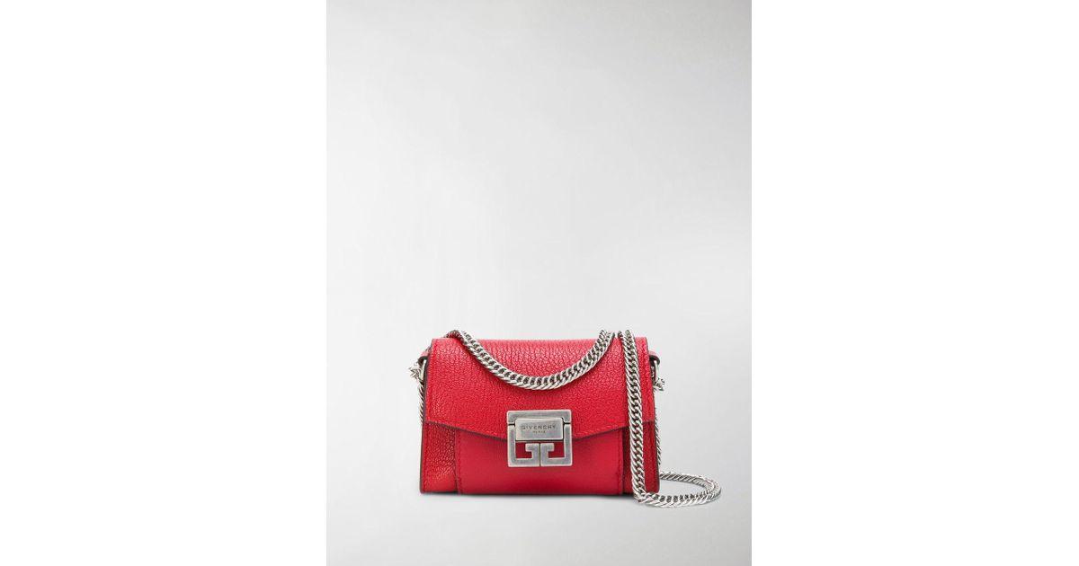 48771ecb061d Givenchy Gv3 Nano Crossbody Bag in Red - Lyst