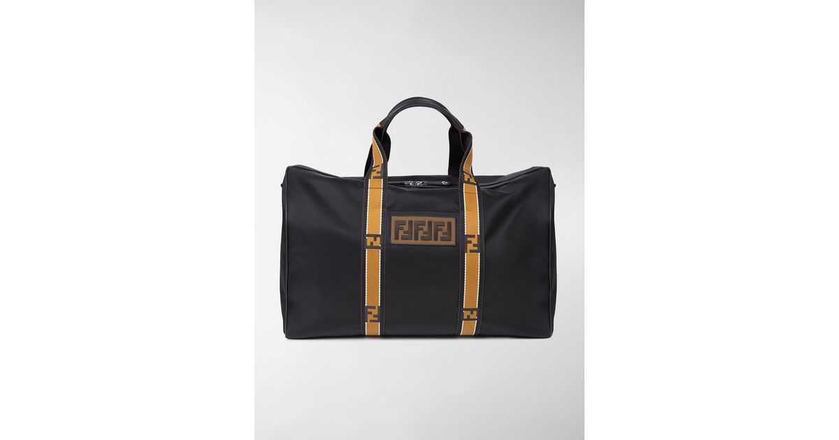 aebafc17b676 Lyst - Fendi Forever Leather And Nylon Duffle Bag in Black for Men