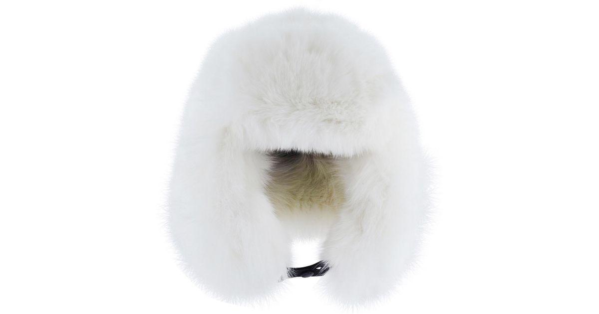 017632a9b Moncler Grenoble White Fur Hat