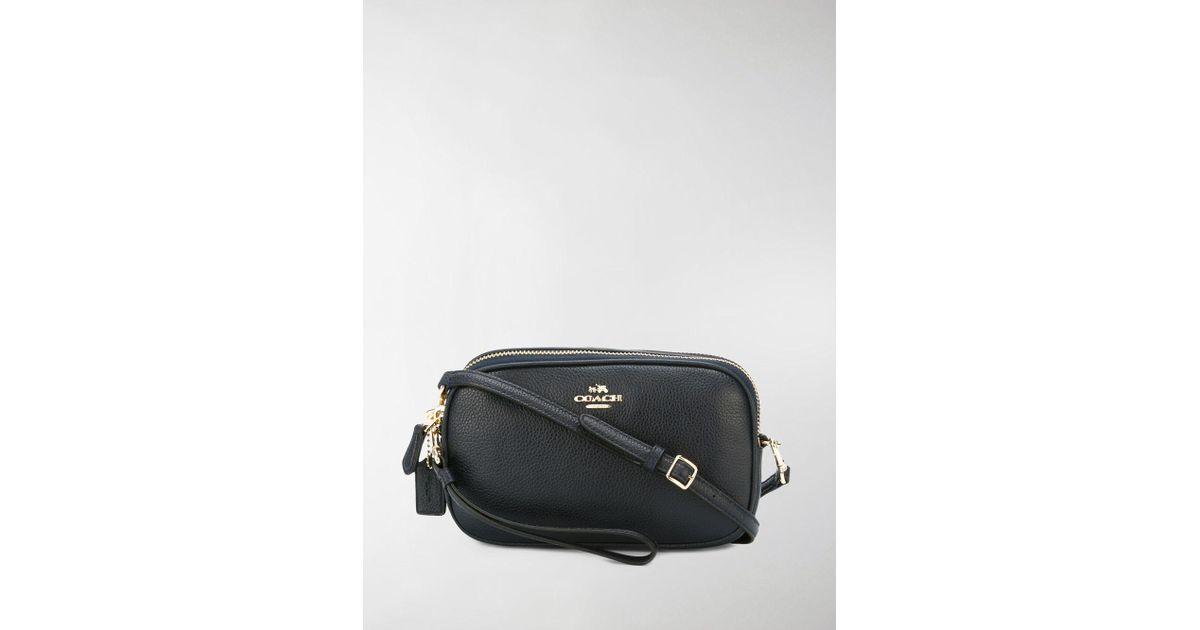 Lyst - COACH Top Zip Crossbody Bag in Blue