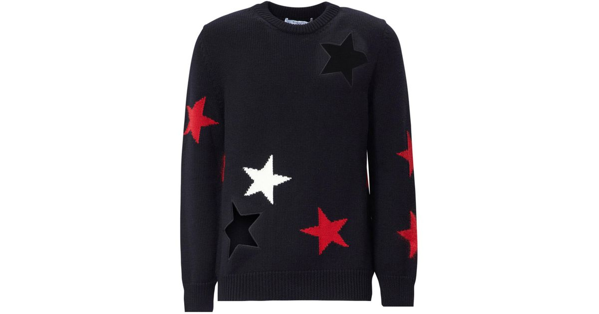 f2116f4bad0d5 Givenchy Star Cut Out Wool Knit in Black for Men - Lyst
