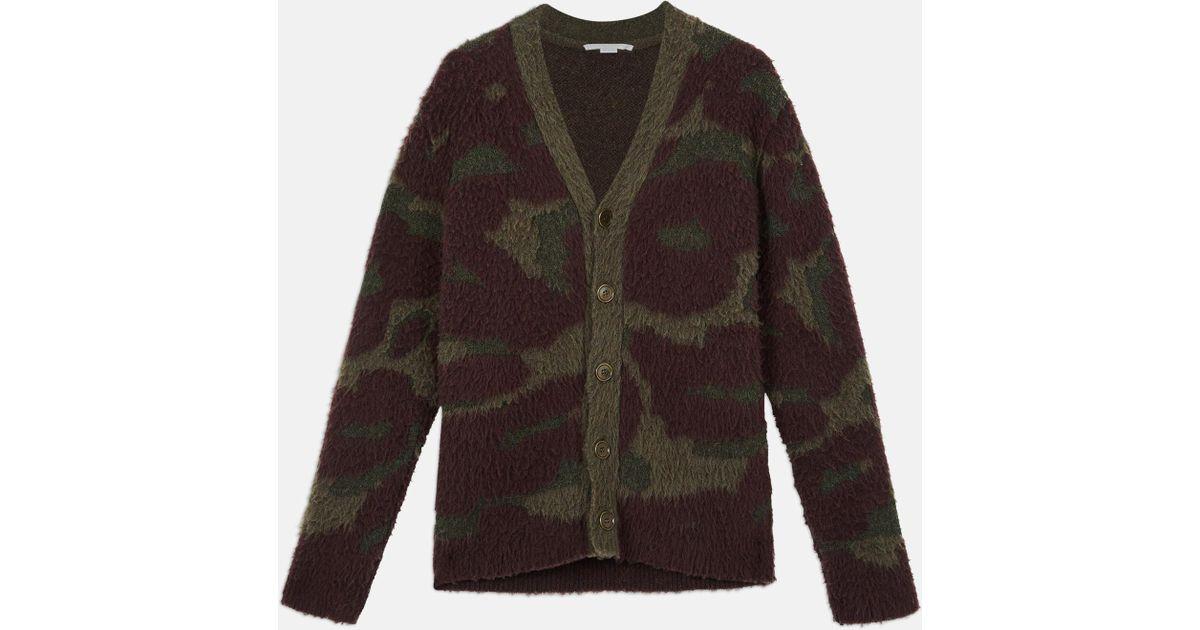 61e697bf093e Stella McCartney Brushed Leopard Cardigan for Men - Lyst