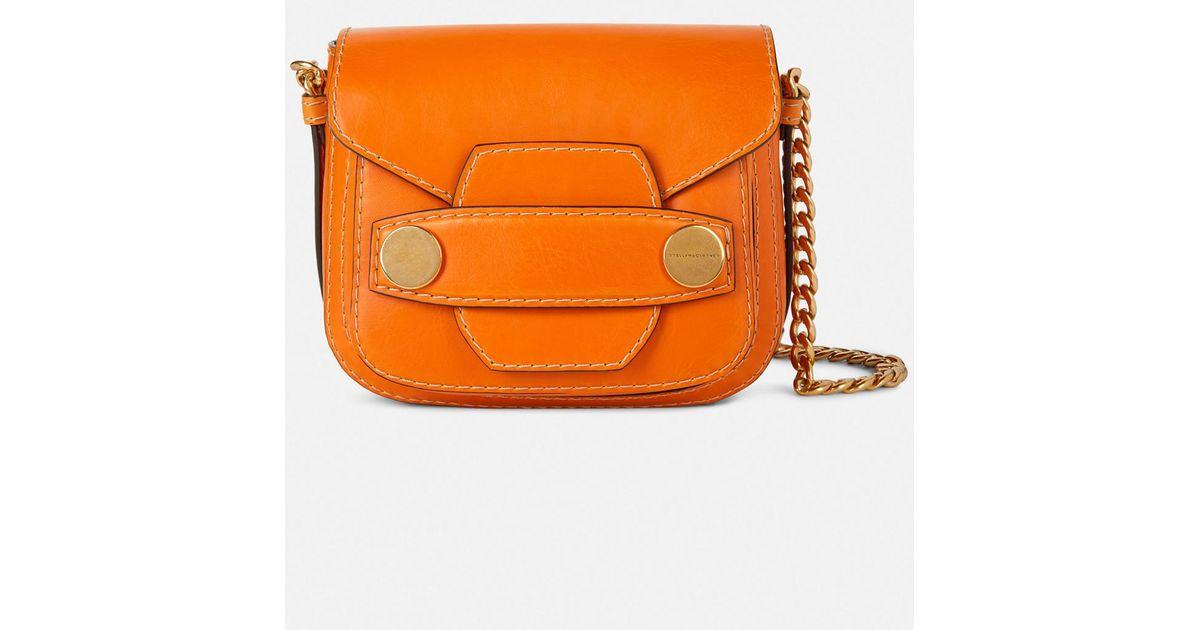 524e9597221 Stella McCartney Stella Popper Mini Bag in Yellow - Lyst
