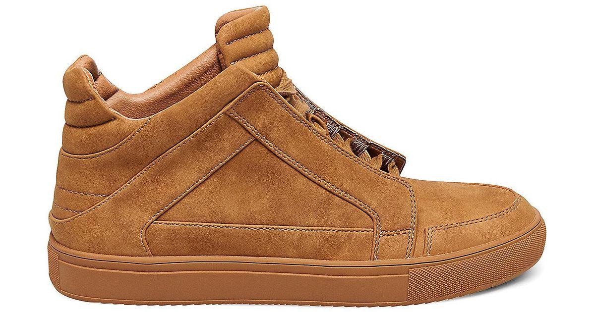 Steve Madden Mens Dodge Nubuck Mid-Top Fashion Sneaker