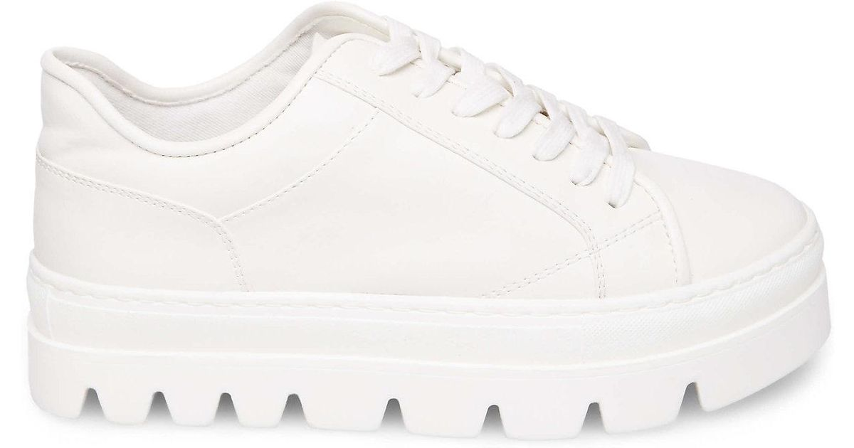 2938032bec5 Steve Madden White Kickstart Fashion Sneaker