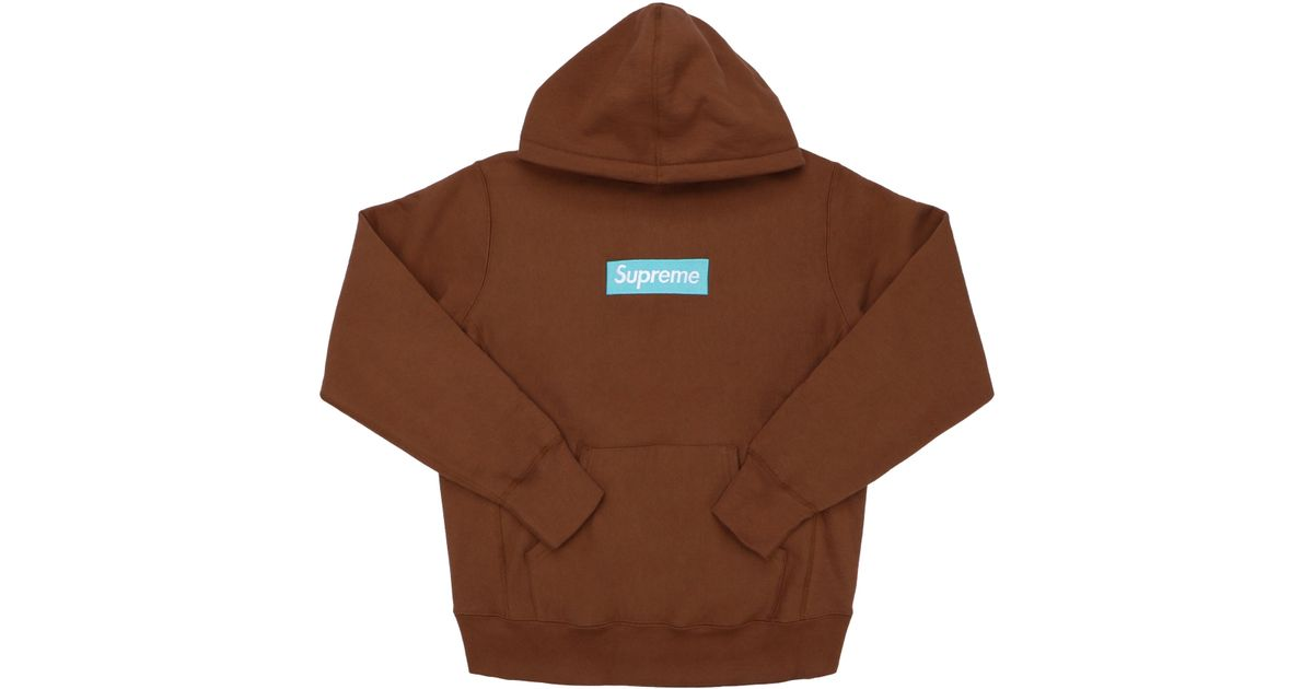 325c4d1b Supreme Box Logo Hooded Sweatshirt (fw17) Rust in Brown for Men - Lyst