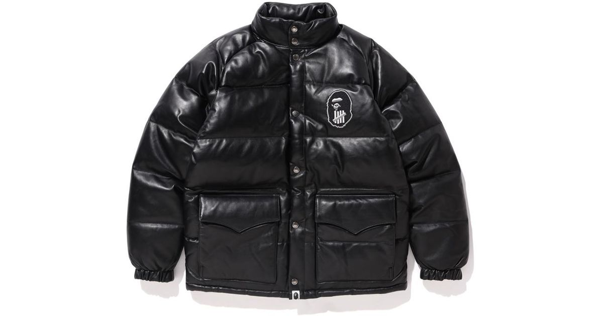 b82939066 A Bathing Ape X Undefeated Classic Down Jacket Black for men