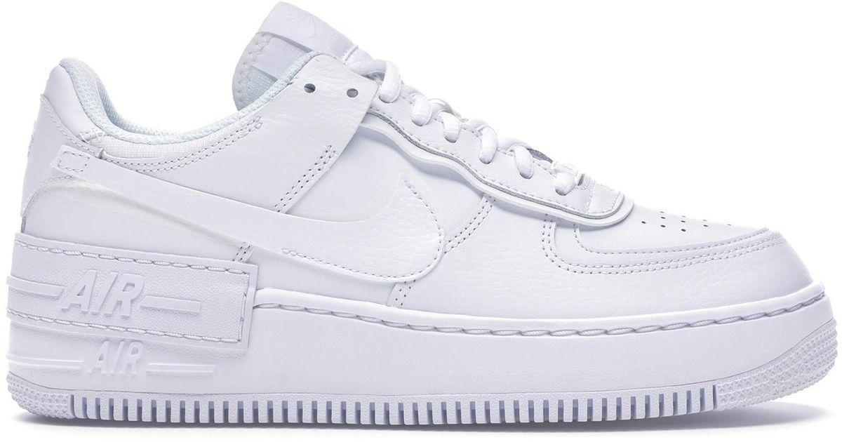 Nike Air Force 1 Shadow Triple White W Lyst Air force 1 shadow sneaker. nike air force 1 shadow triple white w