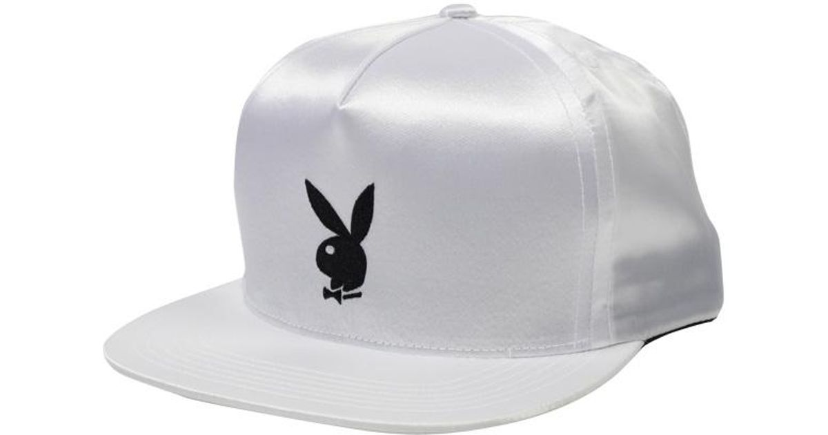 413a1d845a0 Lyst - Supreme Playboy Satin 5 Panel White in White for Men