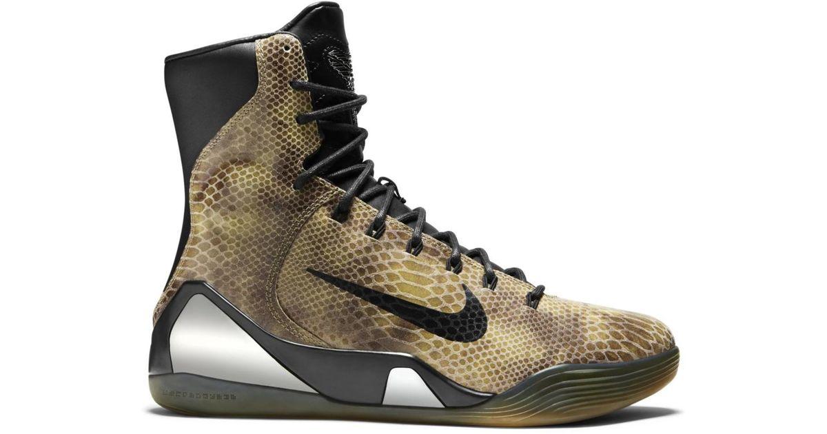 Nike Kobe 9 Ext High Snakeskin in Black