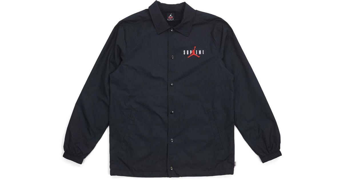 Supreme Jordan Coaches Jacket Black for