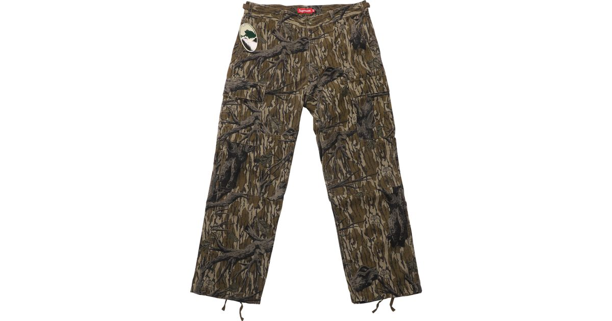 Supreme Cargo Pant (fw18) Mossy Oak Camo In Green For Men - Lyst