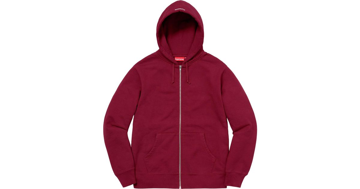 5fb030a920db Lyst - Supreme Akira Syringe Zip Up Sweatshirt Cardinal in Red for Men
