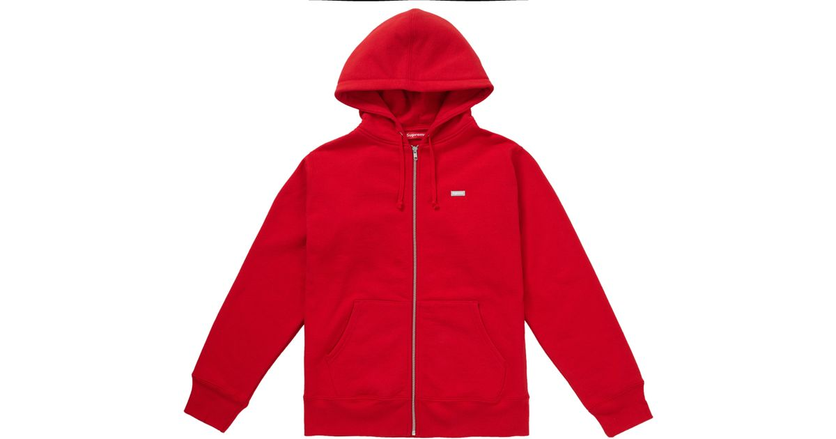 3398d3b6e61d Lyst - Supreme Reflective Small Box Zip Up Sweatshirt Red in Red for Men