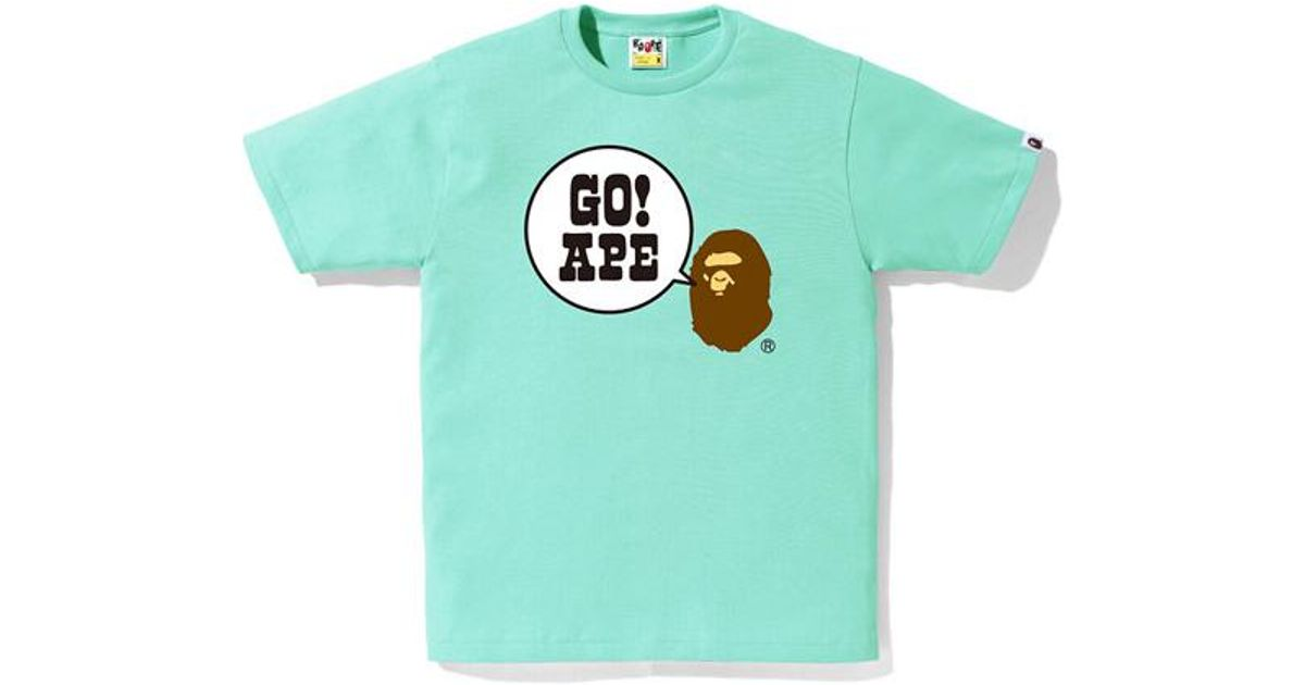 839a8a0c A Bathing Ape Go Ape Tee Green in Green for Men - Lyst