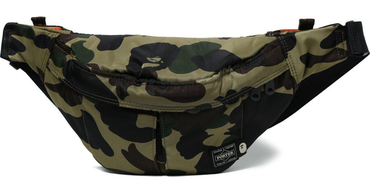 644da3f4d88ca A Bathing Ape Bape X Head Porter Camouflage Print Belt Bag in Green for Men  - Save 15% - Lyst