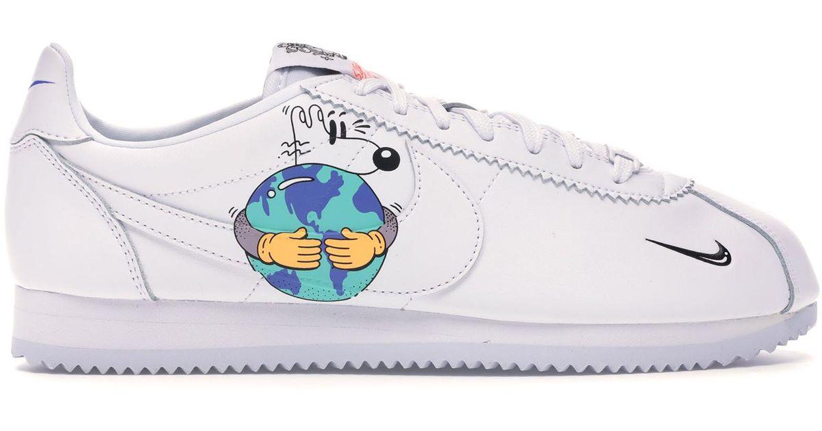 Moda Paine Gillic línea  Nike Cortez Flyleather Steve Harrington Earth Day (2019) in  White/White-White (White) for Men - Lyst
