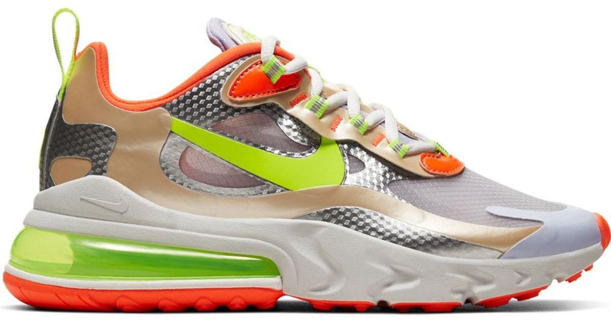 Nike Air Max 270 React Desert Ore Volt Orange W In White Lyst