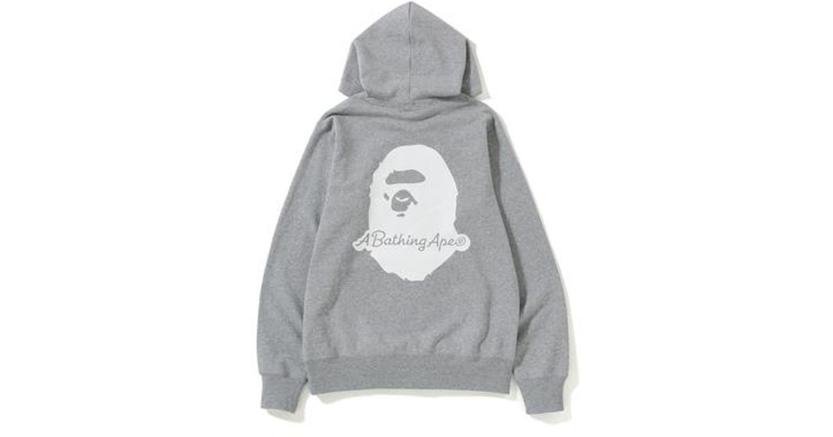 c720e714 A Bathing Ape Patch Pullover Hoodie (ss19) Grey in Gray for Men - Lyst