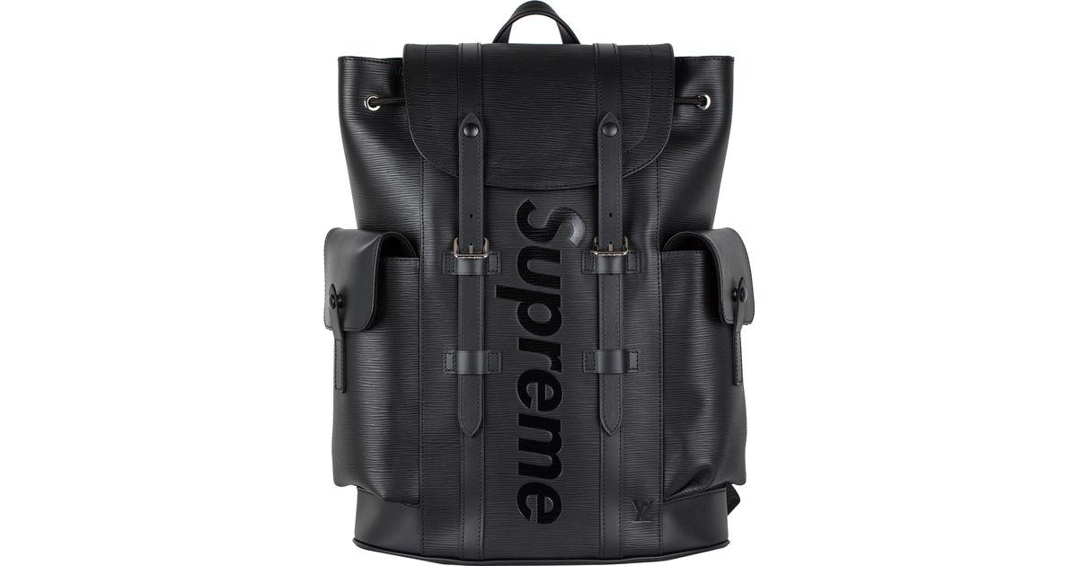 d686b315c0a Supreme Louis Vuitton X Christopher Backpack Epi Pm Black for men