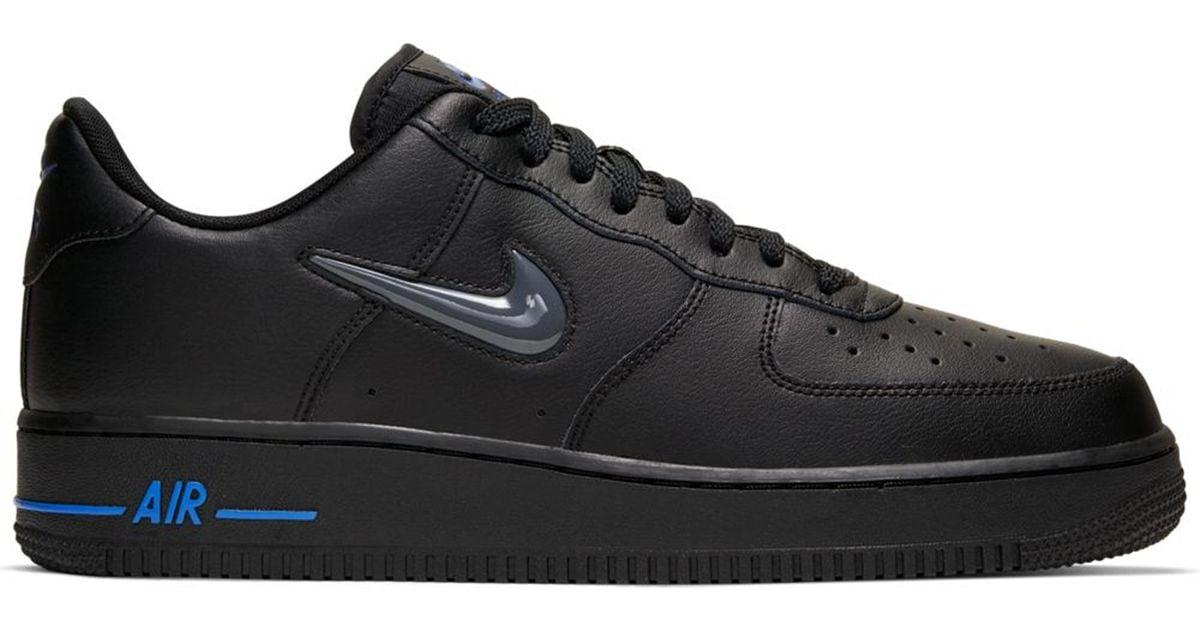 Nike Air Force 1 Low Jewel Black Grey Royal for Men - Lyst