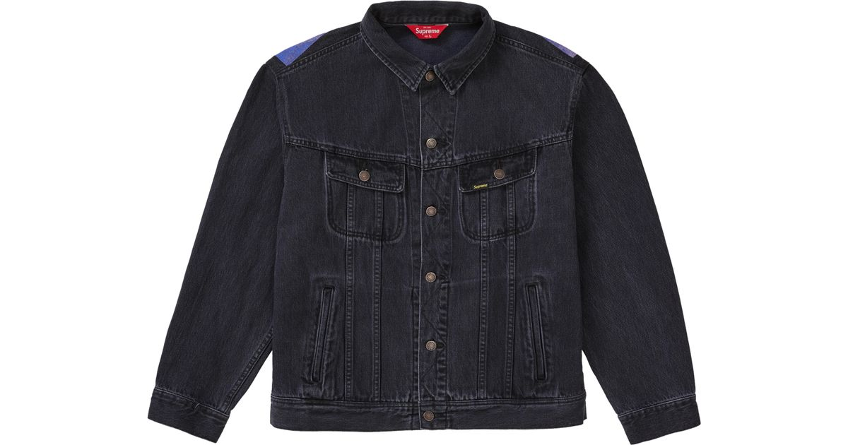 bc335accc Supreme New York Painted Trucker Jacket Black for men