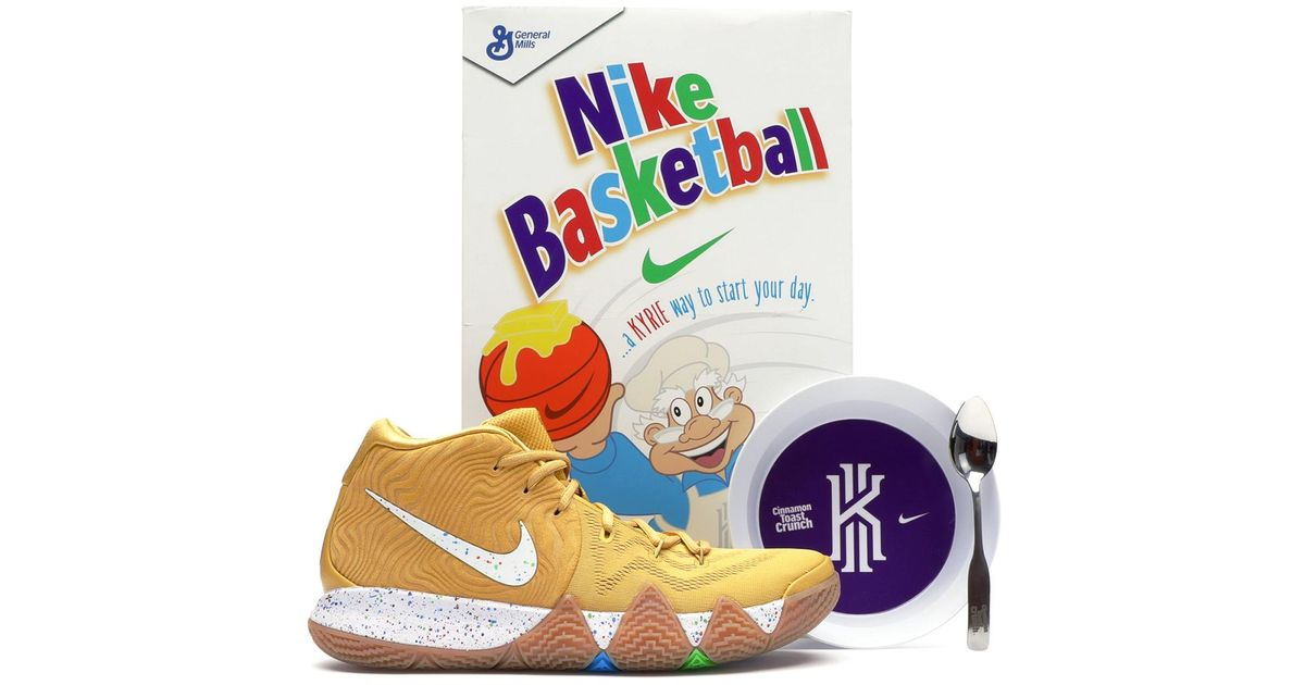 wholesale dealer 01ae1 50e20 Nike Metallic Kyrie 4 Cinnamon Toast Crunch (special Cereal Box Package)  for men
