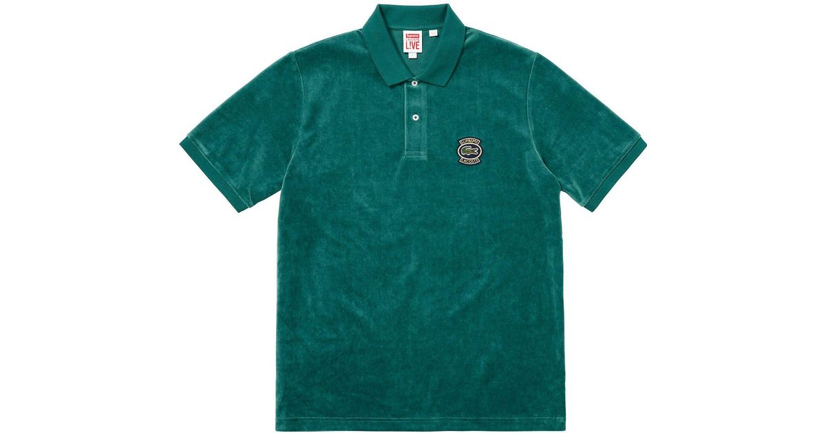 Green Teal Men Velour Supreme For Polo Lacoste 80vnPNOwym