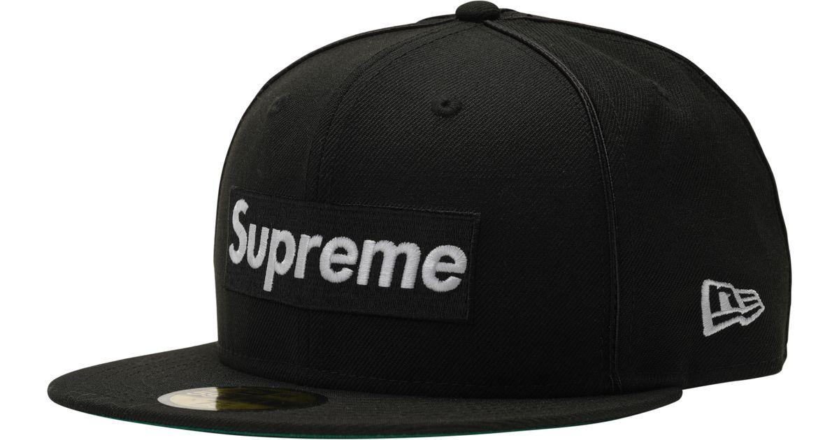Lyst - Supreme Piping Box Logo New Era Black in Black for Men ca1dc158c1cd