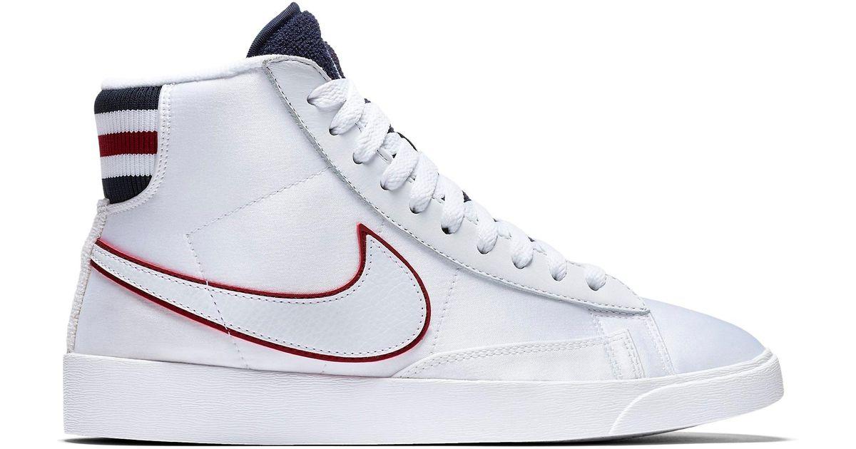 Nike Blazer Mid White Blackened Blue