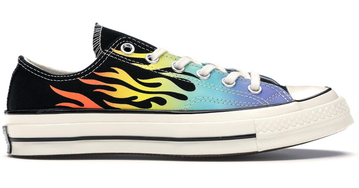 Converse Blue Chuck Taylor All star 70s Ox Flaming Archive Print for men