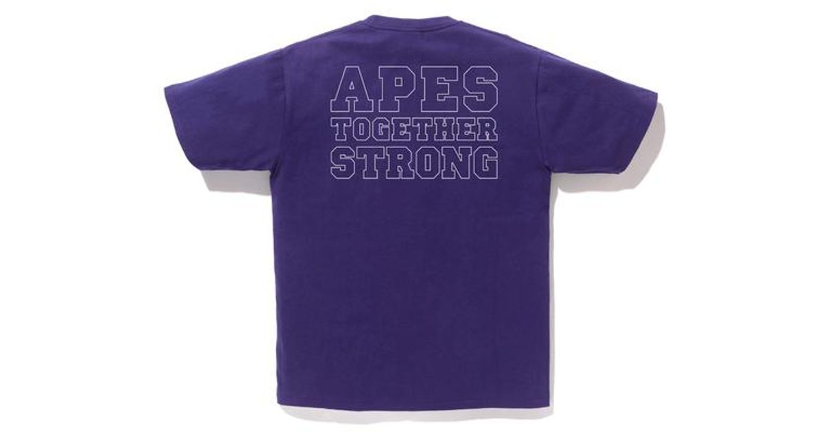 ace7aac2 A Bathing Ape Bicolor College Ats Tee Purple in Purple for Men - Lyst