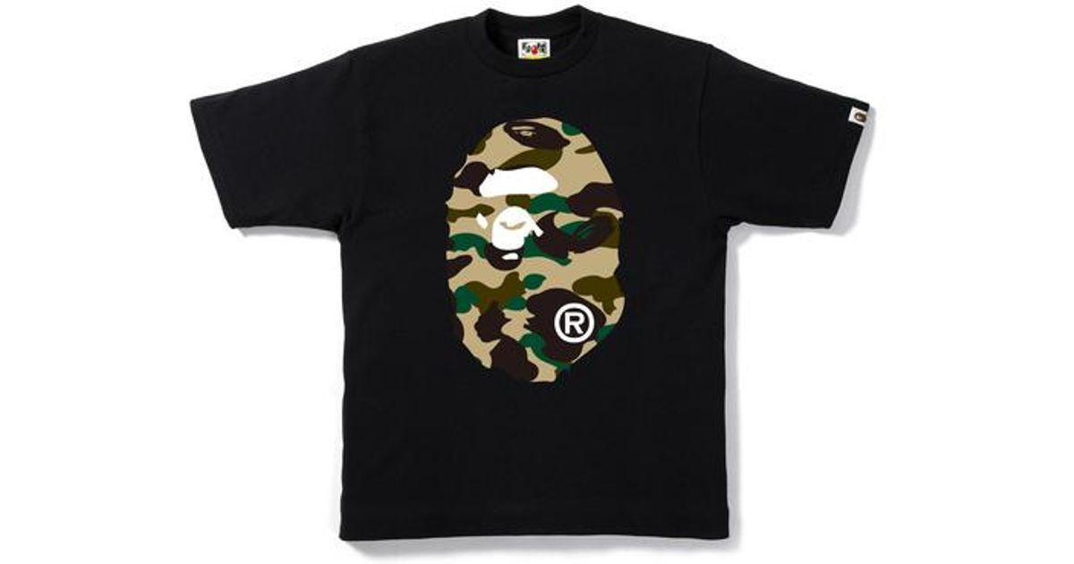 9ef3b5a2 Lyst - A Bathing Ape 1st Camo Big Ape Head Tee Black/yellow in Black ...