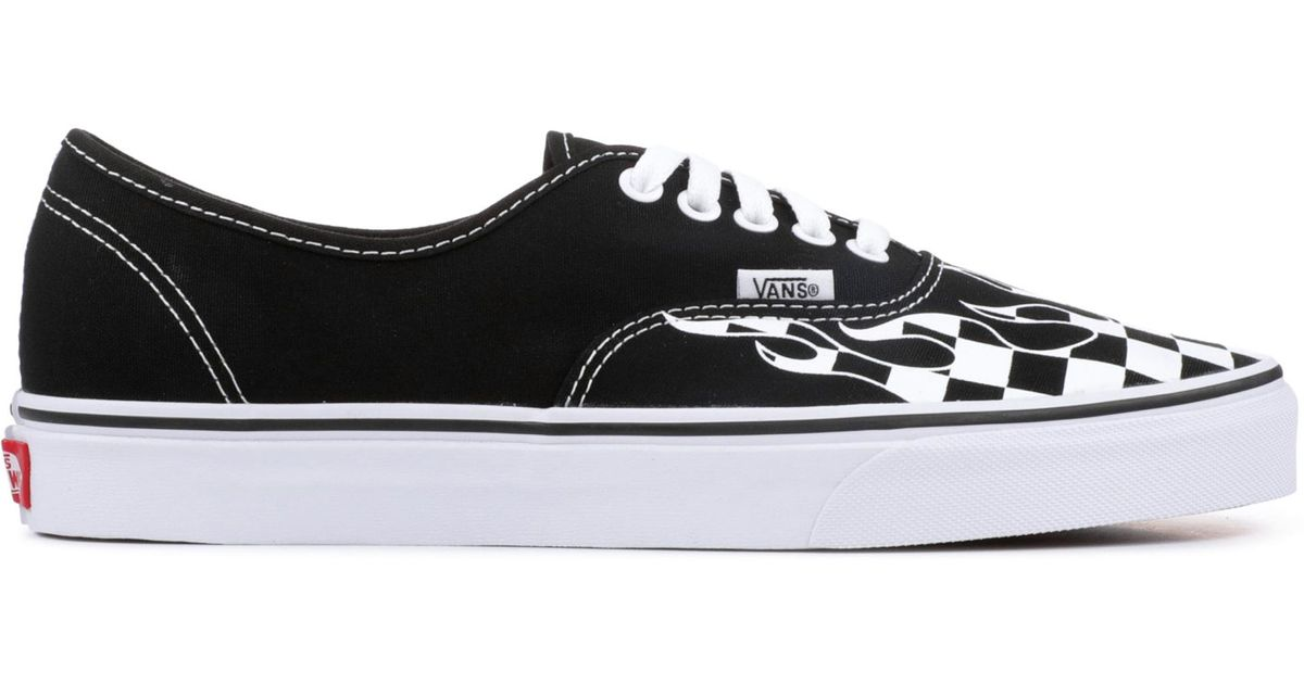 Checker Flame Authentic Shoes in Black