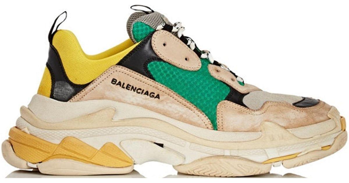 Green Triple S Sneakers