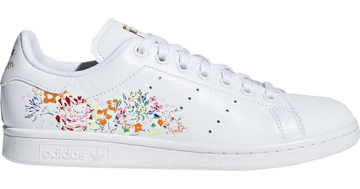 adidas Stan Smith White Floral (w) - Lyst