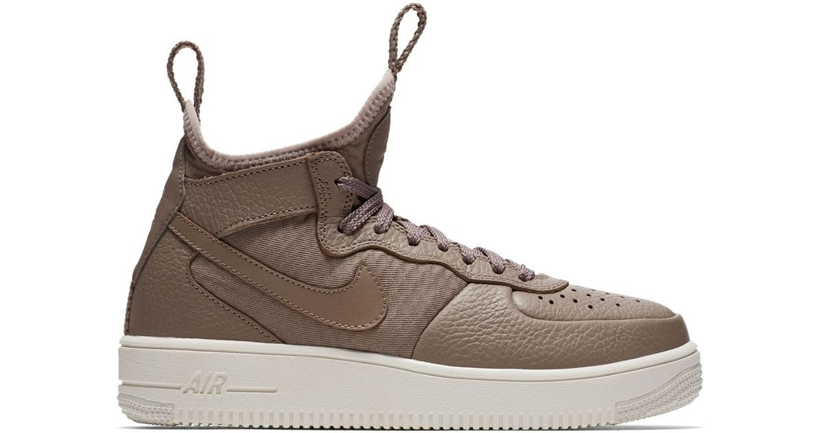 obturador Inesperado clase  Nike Leather Air Force 1 Ultraforce Mid Sepia Stone (w) in Brown - Lyst