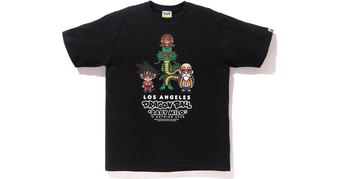 3b808317e Lyst - A Bathing Ape X Dragon Ball Z La Exclusive Baby Milo T-shirt Black  in Black for Men