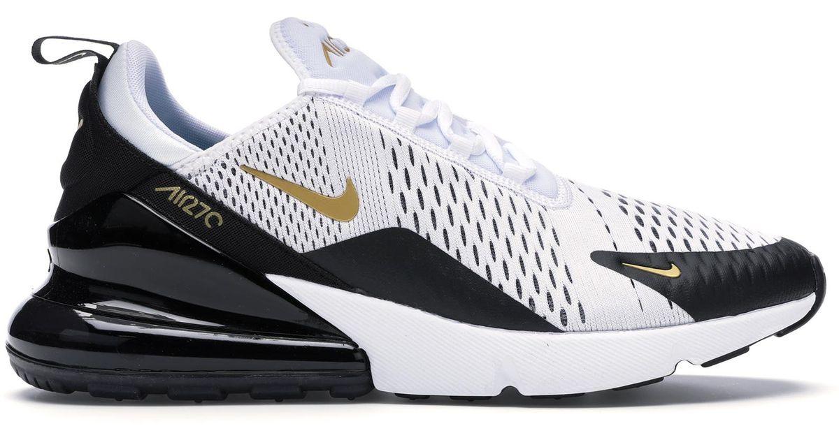 Nike Air Max 270 White Metallic Gold