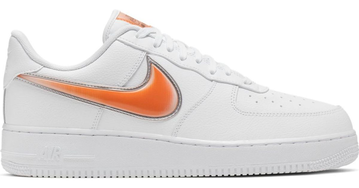 orange low top air force 1