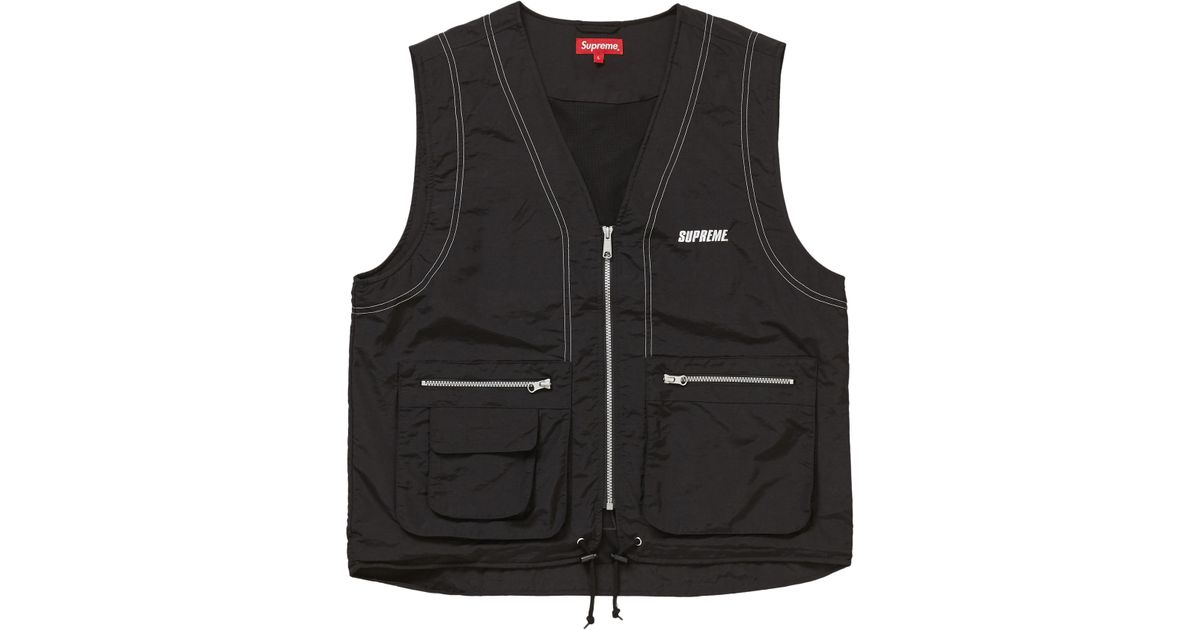 a66526f2 Supreme Nylon Cargo Vest Black in Black for Men - Lyst