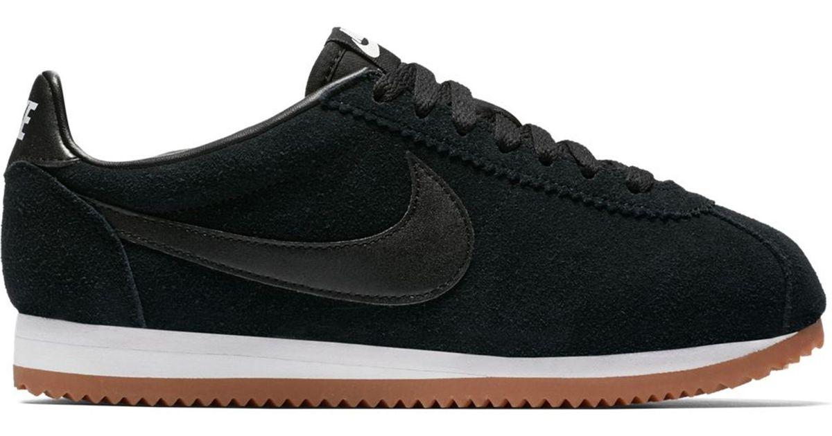 Nike Classic Cortez Suede Black Gum (w