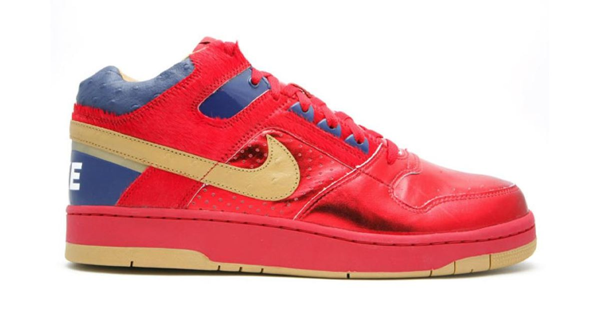 Nike Delta Force Mid Red Gold for Men